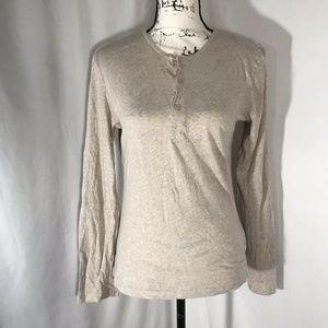 H&M Woman's Beige 100% Cotton Shirt Size XS